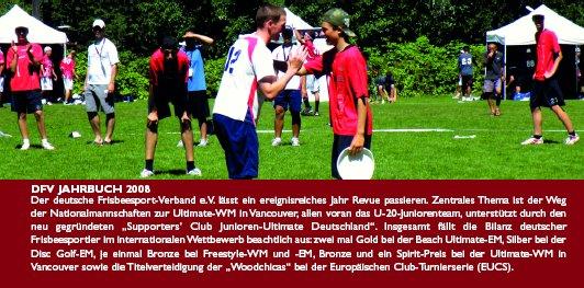 Teilansicht des Rückens des DFV-Jahrbuchs 2008