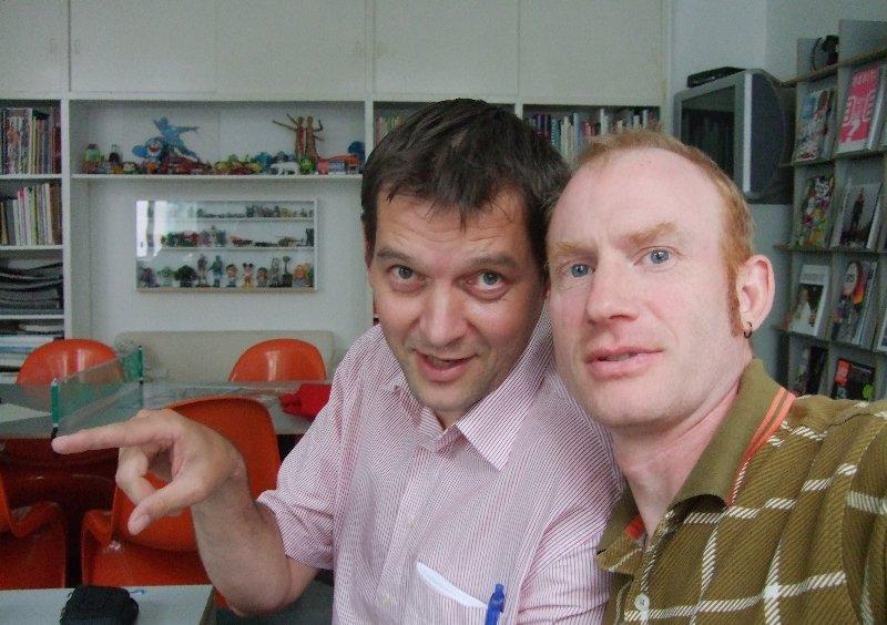 Beim Arbeitstreffen mit Matthias Brucklacher (r.) gibt Jörg Benner die Richtung vor.