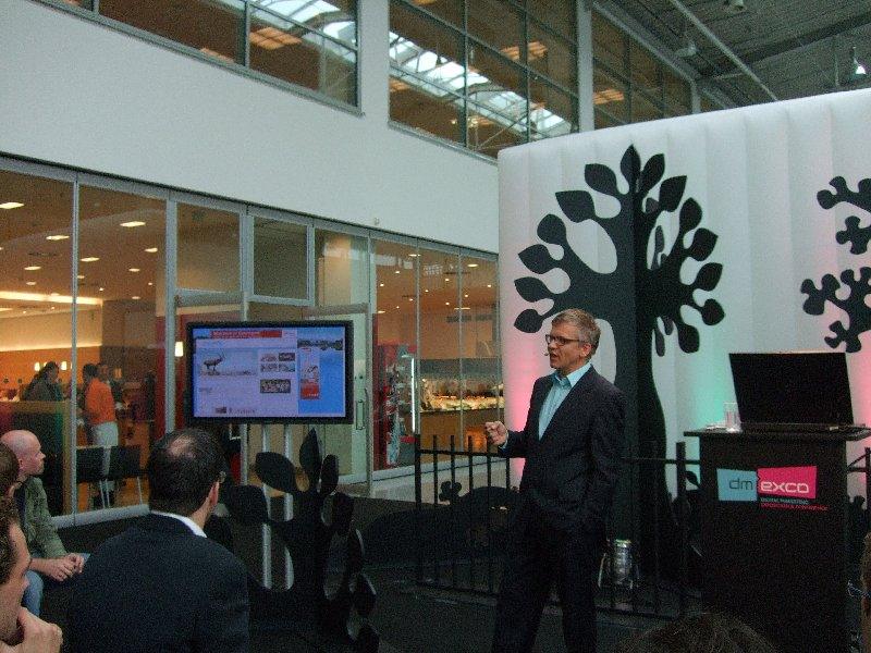 Stefan Ruzas in der Speakers Corner der dmexco 2009