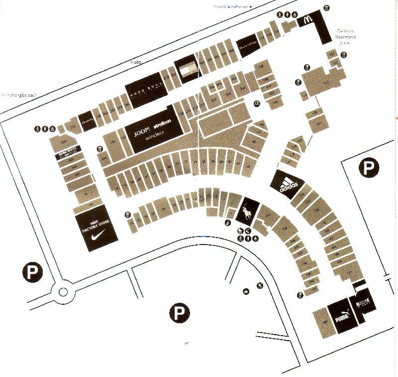 Die Übersicht der Läden im Designer-Outlet Roermond