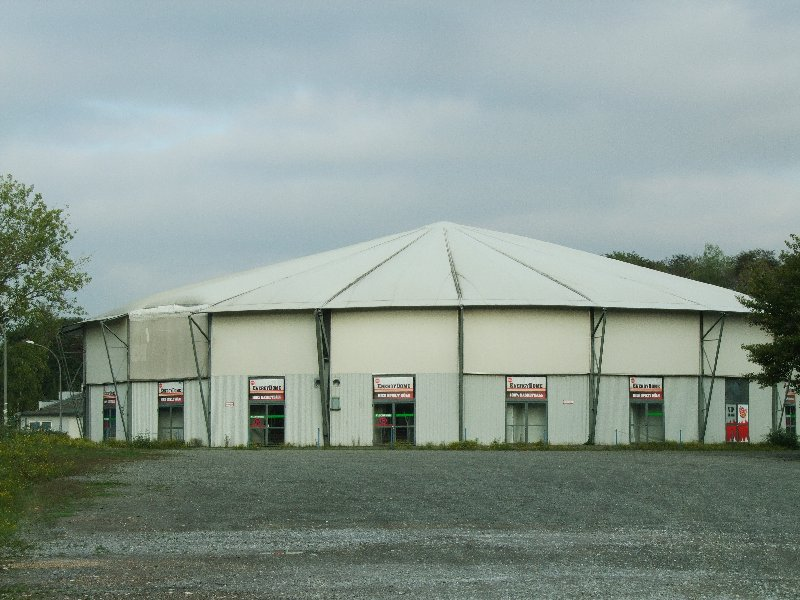 Die Ansicht des Energy-Domes von hinten