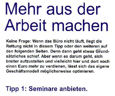 Service-Tipps von Bettina Blaß in der Titelgeschichte des Journal DJV NRW 5/099
