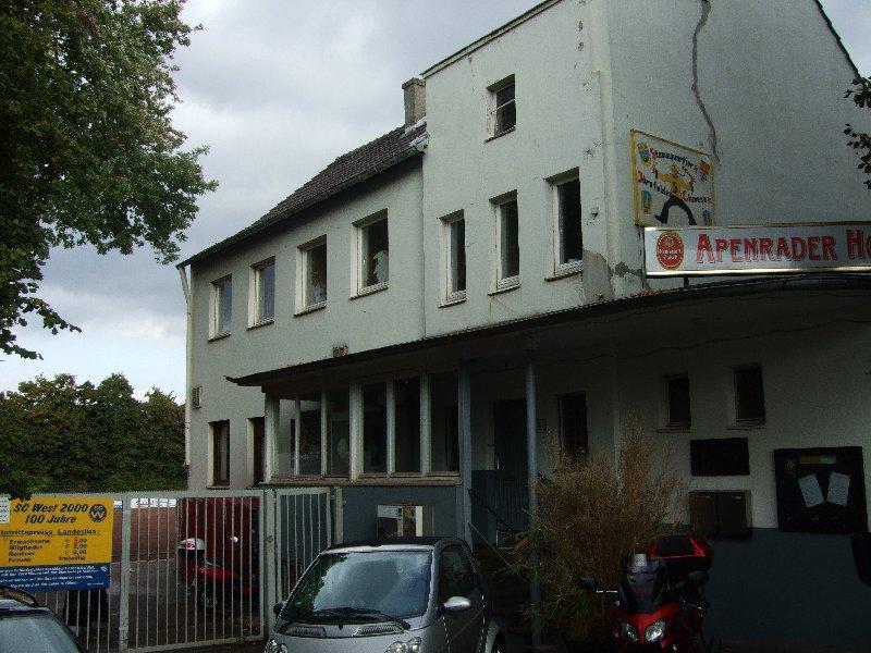 Der Apendrader Hof, Vereinsheim des SC West Köln