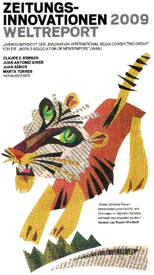 Das ganze Titelblatt des Weltreports Zeitungsinnovationen 2009