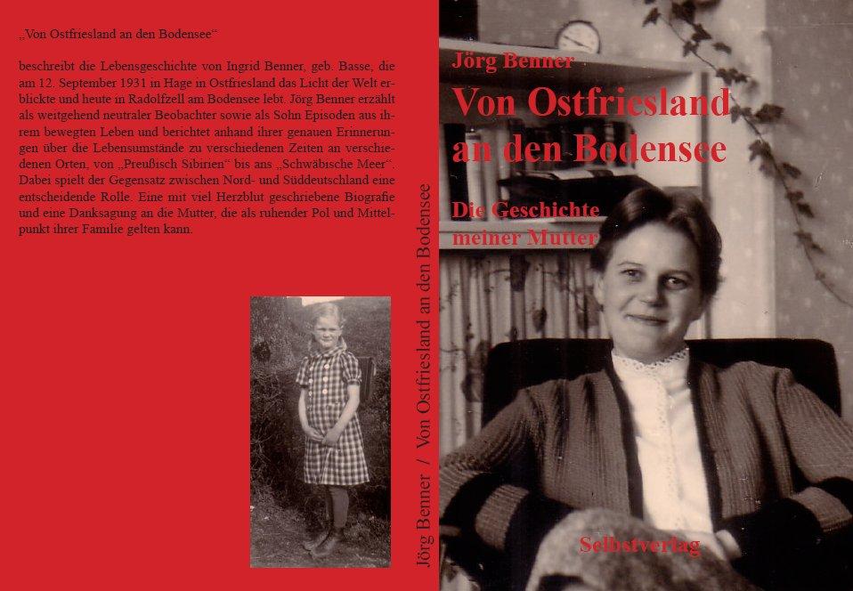 """Rücken und Cover des Buches """"Von Ostfriesland an den Bodensee"""""""