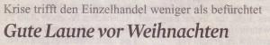 Kommentar im Kölner Stadt-Anzeiger, 13.11.2009