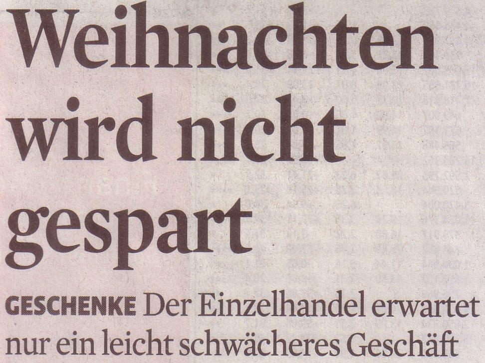 Titel des Artikels im Kölner Stadt-Anzeiger, 13.11.2009