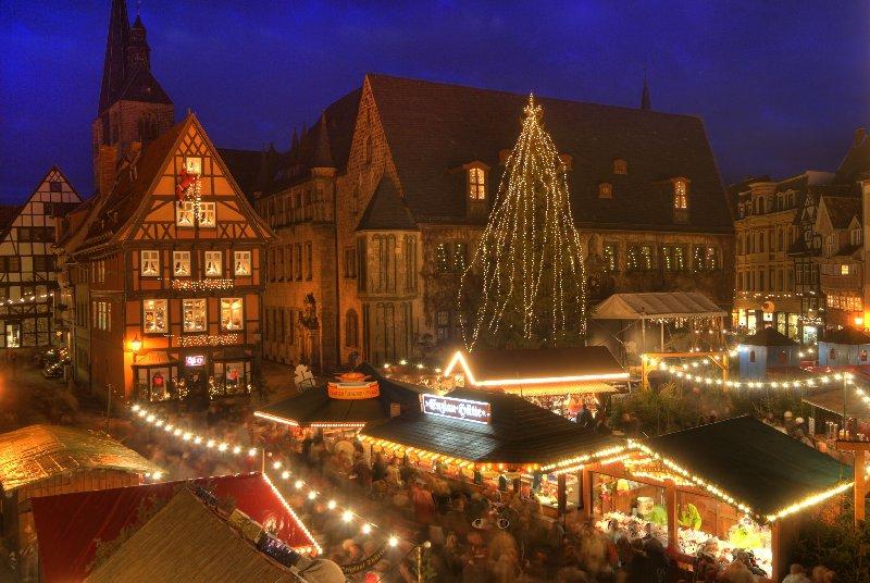 Der Weihnachtmarkt im historischen Quedlinburg, Foto: Jürgen Meusel