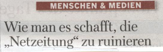 Titel Menschen & Medien, WamS, 08.11.2009