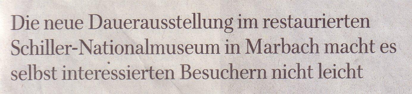 Vorspann des Schiller-Beitrags in der WamS am 08.11.2009