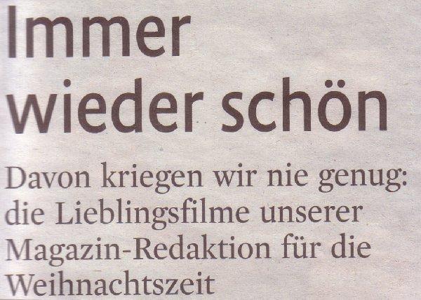 Kölner Stadt-Anzeiger Magazin, 11.12.09, Titel Weihnachtsfilme