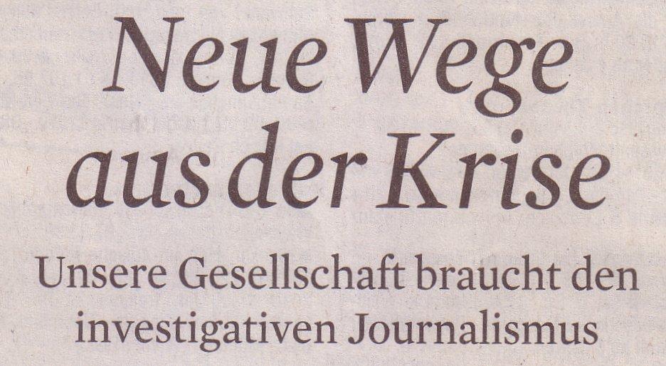 Köner Stadt-Anzeiger, 05.12.09, Titel: Wege aus der Krise
