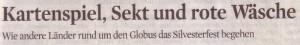 KStA, 31.12.2009, Titel Silvesterfestbräuche