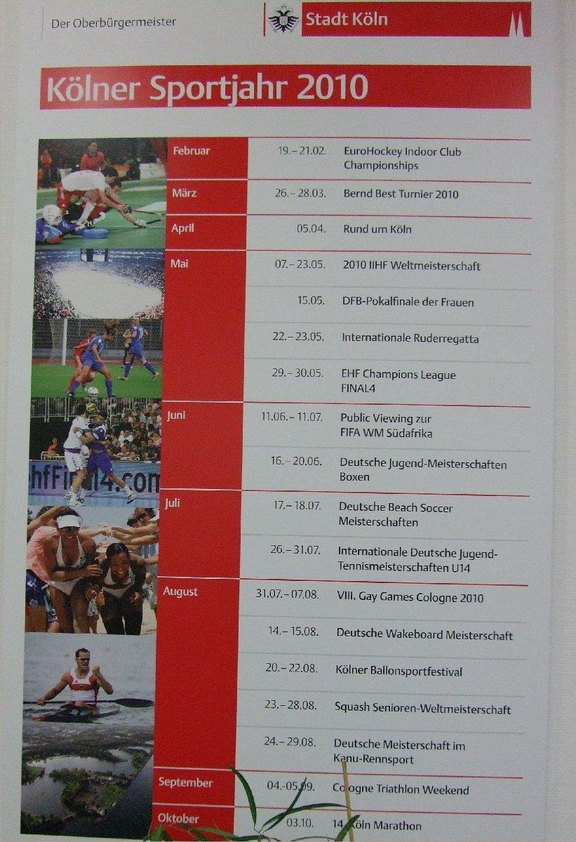 Der Kölner Sportkalender 2010