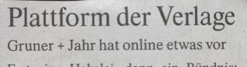 FAZ, 25.02.10, Titel: Plattform der Verlage