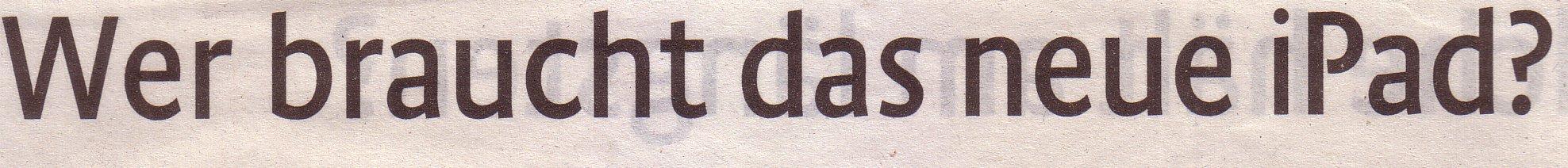 KStA-Magazin, 03.02.10, Titel: Wer braucht das neue iPad?