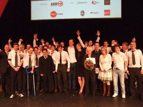 Gruppenbild mit allen Geehrten der Kölnee Sportlerwahl 2009
