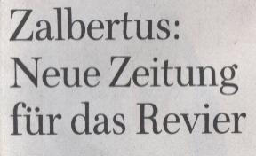 WamS NRW, 14.02.10, Titel: Zalbertus: Neue Zeitung für das Revier