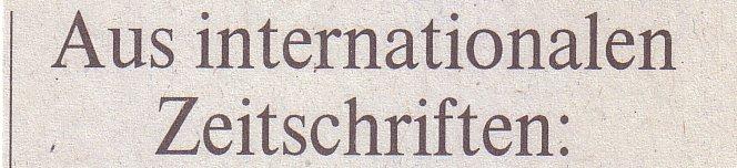 Welt, 23.02.10, Rubrik: Aus internationalen Zeitschriften