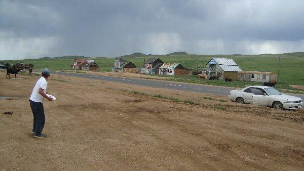 Frisbeesport in der Mongolei