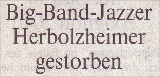 Welt, 30.03.10, Titel: Big-Band-Jazzer Herbolzheimer gestorben