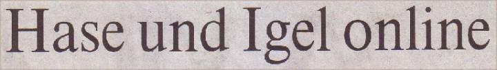 Welt, 30.03.10, Titerl: Hase und Igel online