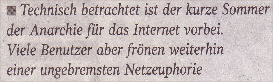 Welt, 30.03.10, Zitat aus: Hase und Igel online