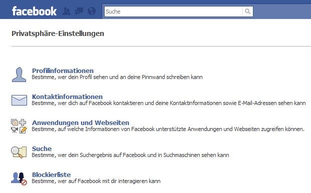 Facebook Sicherheitseinstellungen