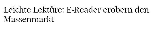 bdg.de, 12.05.10, Titel: E-Reader erobern den Massenmarkt