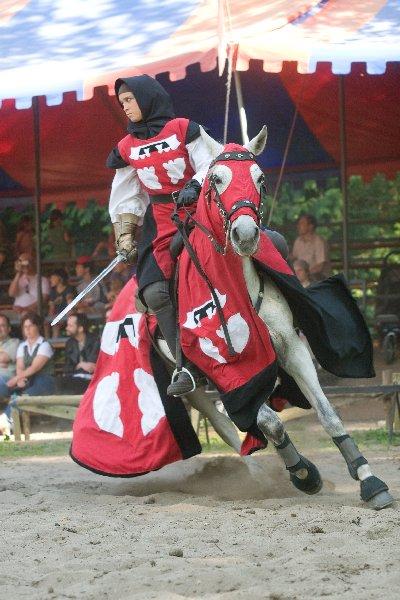 Gräfin Patricia im Turnier auf der Burg Satzvey