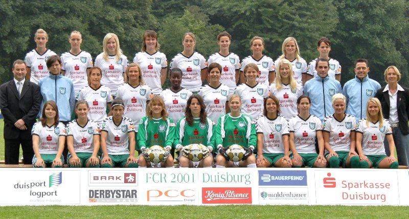 Kader des titelverteidigenden Pokalfinalisten, Foto: FCR 2001 Duisburg