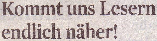 Kölner Stadt-Anzeiger, 08.05.2010, Titel: Kommt uns Lesern endlich näher