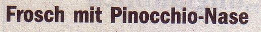 Welt, 19.05.10, Titel: Frosch mit Pinocchio-Nase