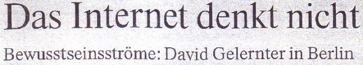 FAZ, 24.06.10, Titel: Das Internet denkt nicht