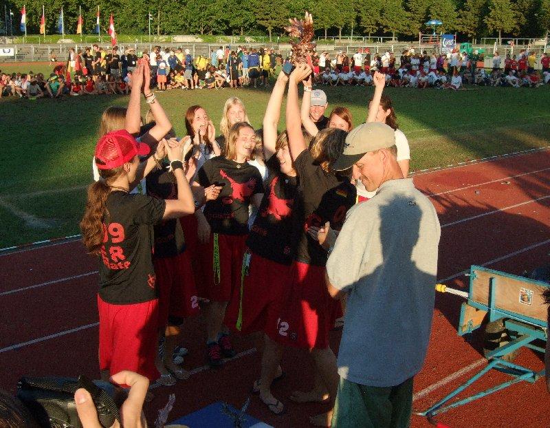 Die Deutschen U17-Damen gewannen bei der Ultimate-EM den Titel und den Spirit-Preis