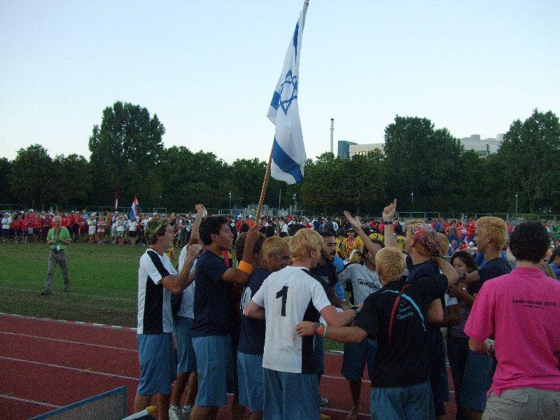 Israel wurde der Spiritsieger der Junior Open-Division bei der Ultimate Junioren-WM in Heilbronn