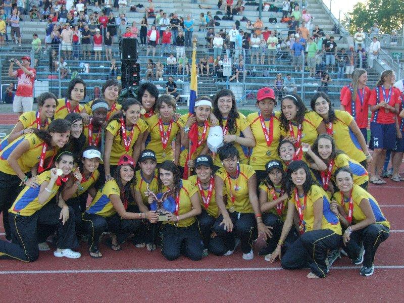 Die doeppelt dekorierten Ultimate-Juniorinnen aus Kolumbien: Weltmeisterinnen und Spiritsiegerinnen