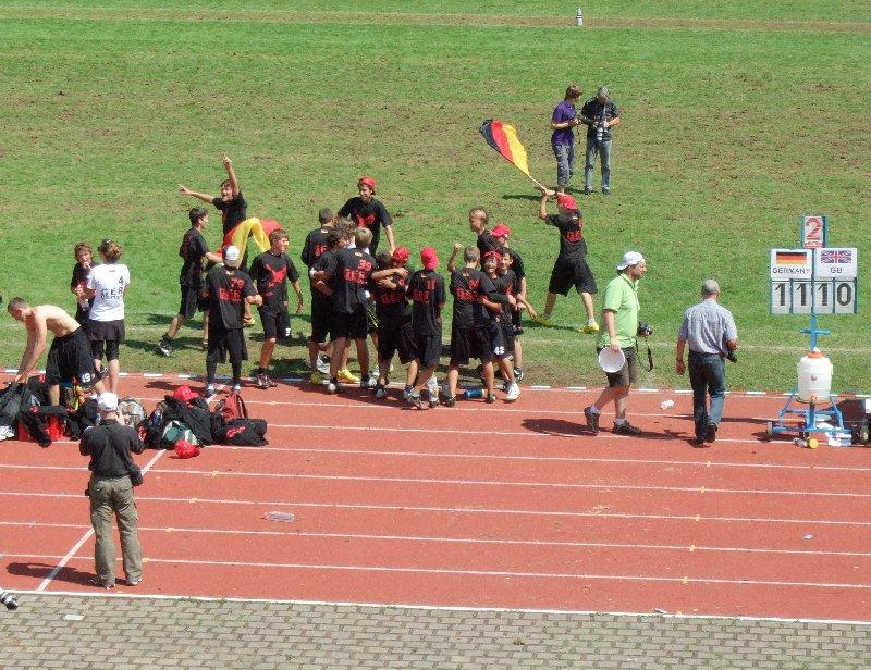 Goldjubel der deutschen U17 Ultimate-Europameister 2010