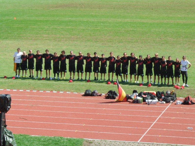 Die deutsche U17 Open-Nationalmansnchaft vor dem EM-Finale im Frankenstadion Heilbronn