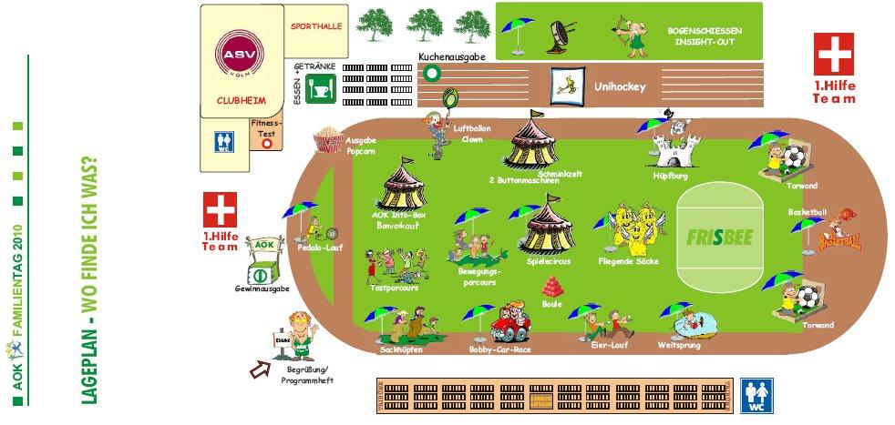 ASV-Lageplan zum AOK-Gesundheitstag am 19.09.2010