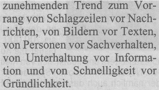 """Kölner Stadt-Anzeiger, 21.09.10, Ausschnitt aus """"Qualität-kostet-Geld"""""""