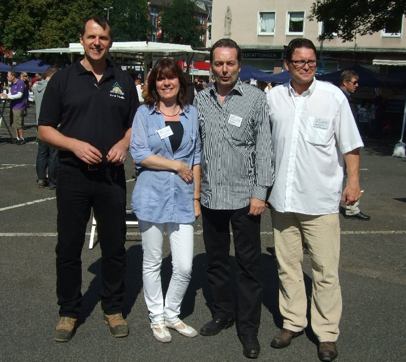 Der RIG-Vorstand beim Riehler Sommerfest
