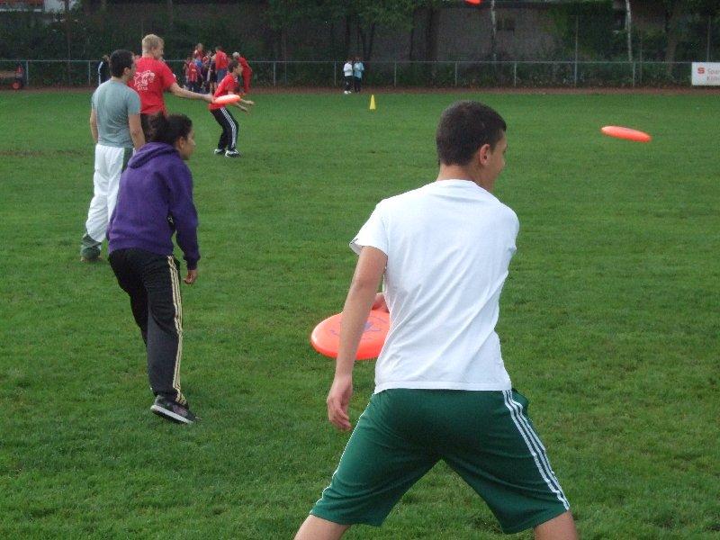 Ultimate Frisbee-Angebot beim Sportaktionstag Köln-Nippes 2010