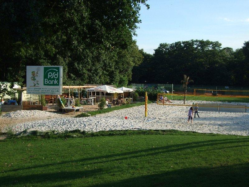 Die erweitere Beach-Volleyball-Anlage der TPSK