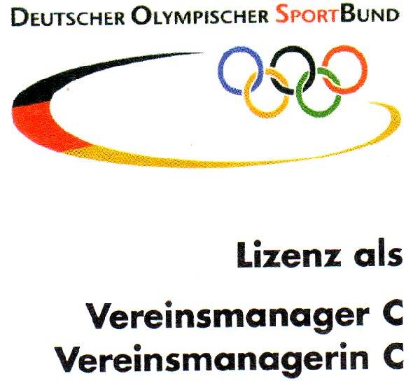 Deckblatt der offiziell überreichten C-Lizenz Vereinsmanagement