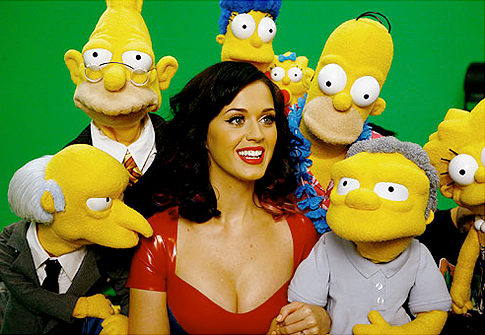 Katy Perry unter den Simpsons-Figuren