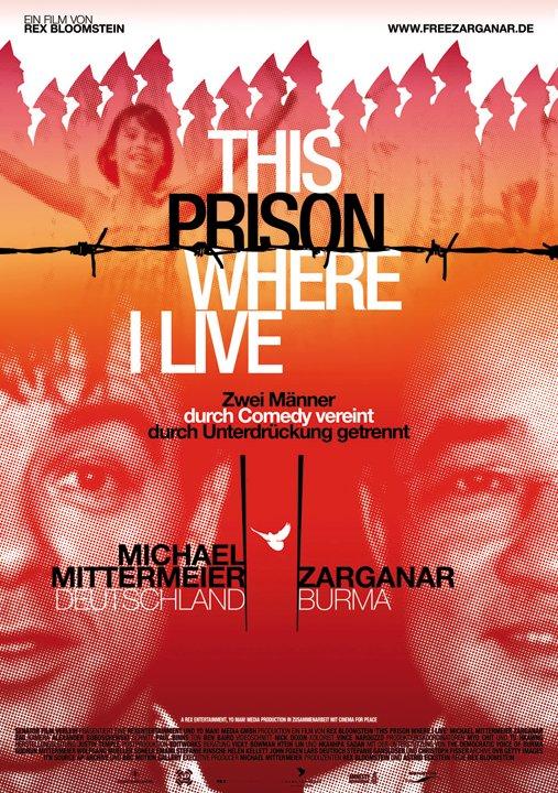 """Filmplakat zum Dokumentarfilm """"This prison where I live"""""""