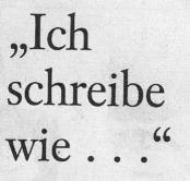 """Frankfurter Allgemeine Sonntagszeitung, 03.10.10, Titel: """"Ich schreibe wie..."""""""