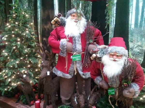 Weihnachtsmänner im Kölner Gartencenters Dingers