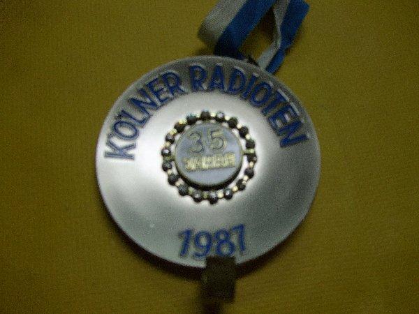 Der letzte Radioten-Orden zum 35jährigen Jubiläum im Jahr 1987